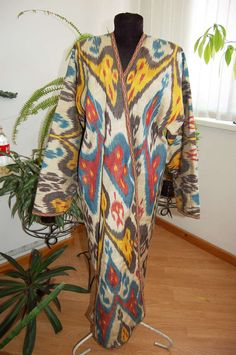SALE Uzbek national traditional clothes silk by SunSilkFlowers