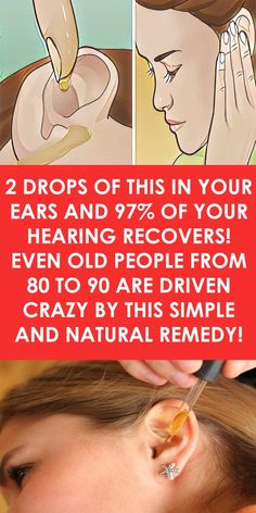 2 Drops of This In Your Ears and of Your Hearing Recovers! 2 Drops of This In Your Ears and of Your Hearing Recovers! Herbal Remedies, Health Remedies, Natural Remedies, Holistic Remedies, Ear Health, Health Tips, Health Care, Health Facts, Health Heal