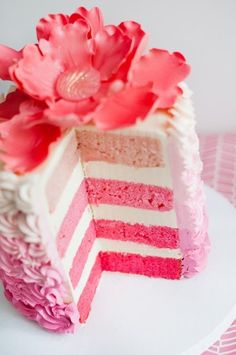 The French Tangerine: ~ ombre cakes