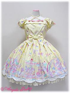 Milky Planet first release op in yellow by Angelic Pretty (2010)
