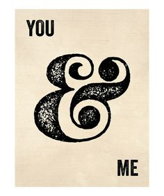 'You & Me' Print by Curious Print Co.