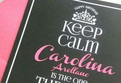 Keep calm 30th birthday invitations 300 via etsy 21st items similar to modern keep calm birthday invitation black and pink birthday invitation birthday invitation on etsy filmwisefo
