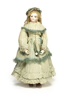 Francois Gauthier bisque shoulder head fashion doll, circa 1870