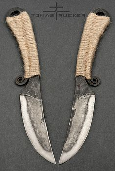 """Celtic"" knife 2, forged 19191 steel, Tomas Rucker"
