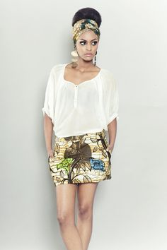 Finally can add this to my pinterest. African wax skirt