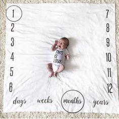 Baby Milestone Blanket Newborn Baby Shower Gift Photography Background Daily,