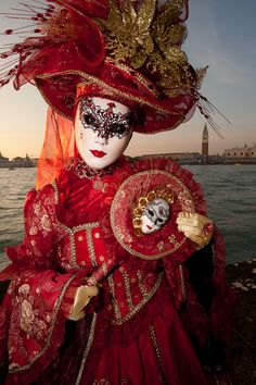 ~Carnivale di Venezia ~ St. Mark's Square ~ Venice in Background~ www.tablescapesbydesign.com https://www.facebook.com/pages/Tablescapes-By-Design/129811416695