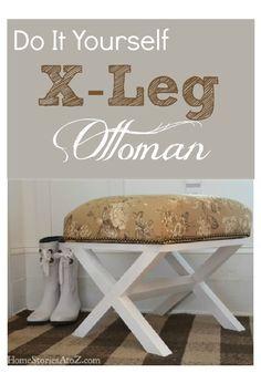 diy / How to make your own x leg ottoman.