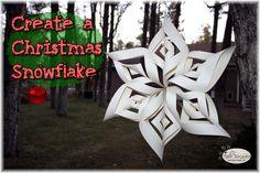 Create a Christmas Snowflake - Tiger Strypes Blog http://www.tigerstrypes.com/christmas-snowflake/ via @satrntgr