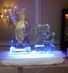 Awesome #Baylor ice sculptures at a wedding reception! (click for more pics) #SicEm