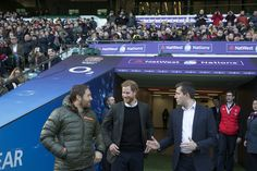 Prince Harry Photos - May0081428 . Daily Telegraph..DT News..SOLO ROTA..Harry with Jonny Wilkinson and Ben Calveley, RFU head of Strategy and Corporate affairs...Prince Harry to attend England Rugby Team Open Training Session Prince Harry will then take his seat in the stands alongside the young people to watch the England team prepare for their next Natwest 6 Nations match. While the training session is taking place, Prince Harry will chat to the young people to hear about how rugby has…