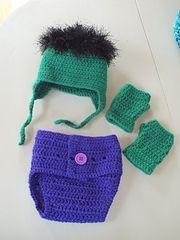 Ravelry: The Incredible Hulk Baby Set pattern by Samantha Oravec