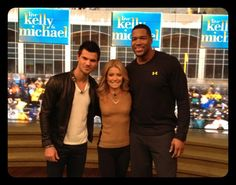 Taylor Lautner on #KellyandMichael to promote his new movie Breaking Dawn Part 2