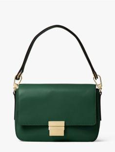 2e3cb4d740744 Interesting handle design Leather Shoulder Bag