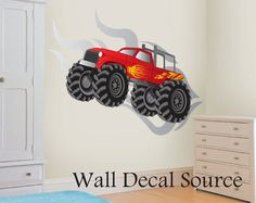 Monster truck mural idea