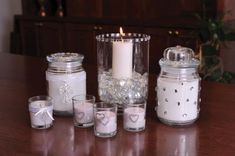 sllver embellished candles