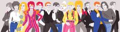 Changes: A Timeline of David Bowies illustrated | apricot-juice.com