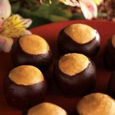 Buckeyes a favorite from my childhood (especially at Christmas) in Ohio