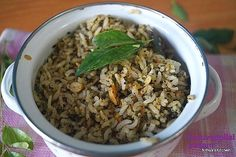 KARUVEPPILAI SADAM/CURRY LEAVES RICE/LUNCH BOX IDEA - Powered by @ultimaterecipe