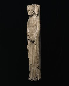 Column Statue of a King, ca 1150-1160, Saint-Denis, France, limestone