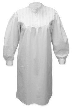 Emma Cotton Nightgown - White