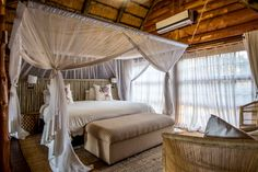 Main bedroom in the Family Chalet at Rhino River Lodge, South Africa. Photo © Claire Birtwhistle.