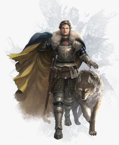 art Robb Stark and grey wind