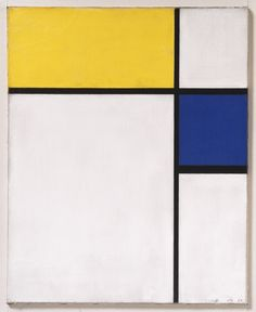 """""""Composition with Blue and Yellow,"""" 1932, Piet Mondrian"""