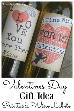 Grungy Valentines Day Wine Bottle Labels by SmartPartyPlanning Valentines Day Wine, Valentine Day Gifts, Galentines Day Ideas, Wine Bottle Labels, Beer Labels, Bottle Caps, Wine Bottles, Wine Label Design, Valentine's Day Diy