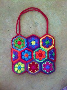 La crochetnauta: African Flower / Flor africana tutorial