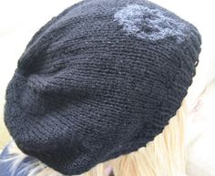 Black and grey oversized beanie. Slouchy by sweetygreetings, £8.50