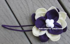 Flower Headband, Headband for Babies, Baby Headband, Lotus Flower, Dainty Headband, Handmade Headband by OurKraftyCreations on Etsy