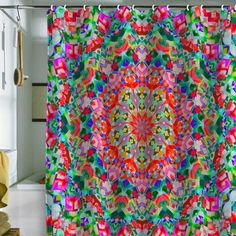 Lisa Argyropoulos Inspire Victoriana Shower Curtain from Deny Designs. Saved to DENY Designs Products. William Morris, Colorful Shower Curtain, Deco Boheme, Curtain Designs, Bohemian Decor, Bohemian Curtains, Bohemian Bathroom, Lisa, Interior Exterior