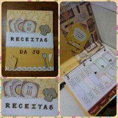 Livro de receitas scrapbook Recordaria