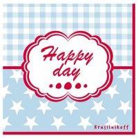 Krasilnikoff Servietten 'Happy Day'