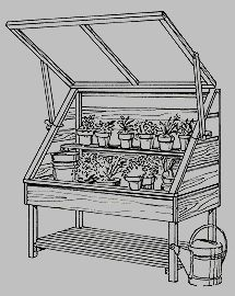 plans & instructions for garden project - cold frame & propagating bench