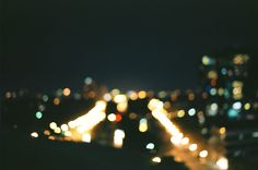 For some reason I really like bokeh photo's of cities.