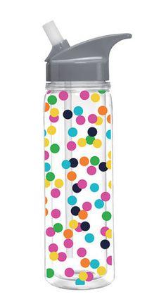 Insulated Fun Dot Water Bottle – Heart