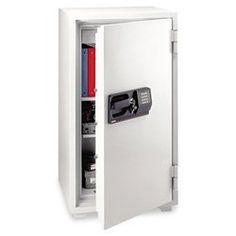 Sentry S8771 58-Cubic Feet Commercial Electronic/Tubular Key Fire Safe, 624-Pound, Gray by Sentry. $1154.39. Two multi-position shelves and locking drawer. Five live-locking bolts and continuous bolt on hinge side door. Available with or without wheels. 58 -Cubic Feet. Electronic lock with key lock. This light gray commercial safe is a great way to protect your valuables from theft and fire damage For security, the 58-Cubic Feet safe features an electronic lock with key lo...