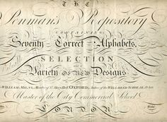 The title page taken from The Penman's Repository by William Milns, published 1795