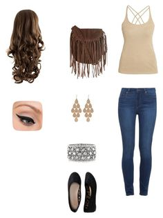"""Bez naslova #9"" by nejrasehicc ❤ liked on Polyvore featuring Morgan, Paige Denim, Aéropostale, Glamorous, Irene Neuwirth, Mark Broumand and LORAC"