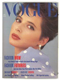 Isabella Rossellini by Albert Watson Vogue UK July 1984 Vogue Magazine Covers, Fashion Magazine Cover, Vogue Covers, Vintage Vogue, Vintage Fashion, Vintage Style, Retro Vintage, Top Models, 1980s Glamour