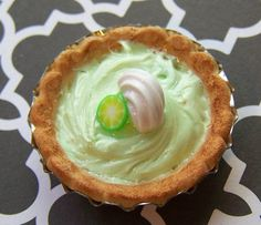 Hey, I found this really awesome Etsy listing at https://www.etsy.com/listing/219049107/keylime-meringue-pie-polymer-clay
