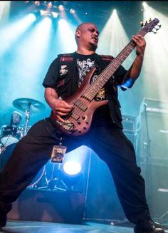 Six munition bulldozer bass attack.Vinnie Blood.Derek Carr photography. #tyrantsblood #deathmetal Death Metal, Bass, Blood, Music Instruments, Guitar, Musical Instruments, Guitars, Double Bass