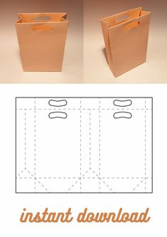 Diy Gift Box Template, Box Packaging Templates, Paper Box Template, Paper Gift Bags, Diy Paper Bag, Box Patterns, Diy Crafts Hacks, Paper Folding, Diy Box