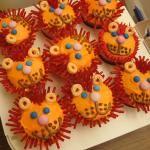 Lion Cupcakes~                  By Kawaii Foods, Orange