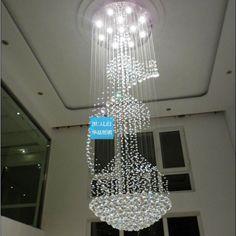 Aliexpress.com : Buy Pendant light crystal lamp modern pendant lamp stair lamp living room lights dining room pendant light project light on Angel Tears  lighting Co.,Ltd.. $1,179.13