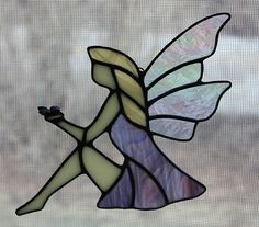 Stained Glass Suncatcher Fairy Suncatcher by OnlineGlass on Etsy