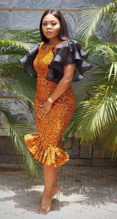 2019 Stunning and Lovely Ankara Short Gown Styles - Naija's Daily Ankara Short Gown Dresses, Ankara Short Gown Styles, Short Gowns, African Print Dresses, African Dresses For Women, African Print Fashion, Africa Fashion, African Wear, African Attire