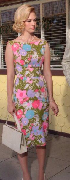 Betty Draper ( Mad Med) flower dress